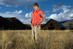 Gabriele Andersen, Olympic marathon runner, in Sun Valley Idaho, for L'Equipe Magazine.