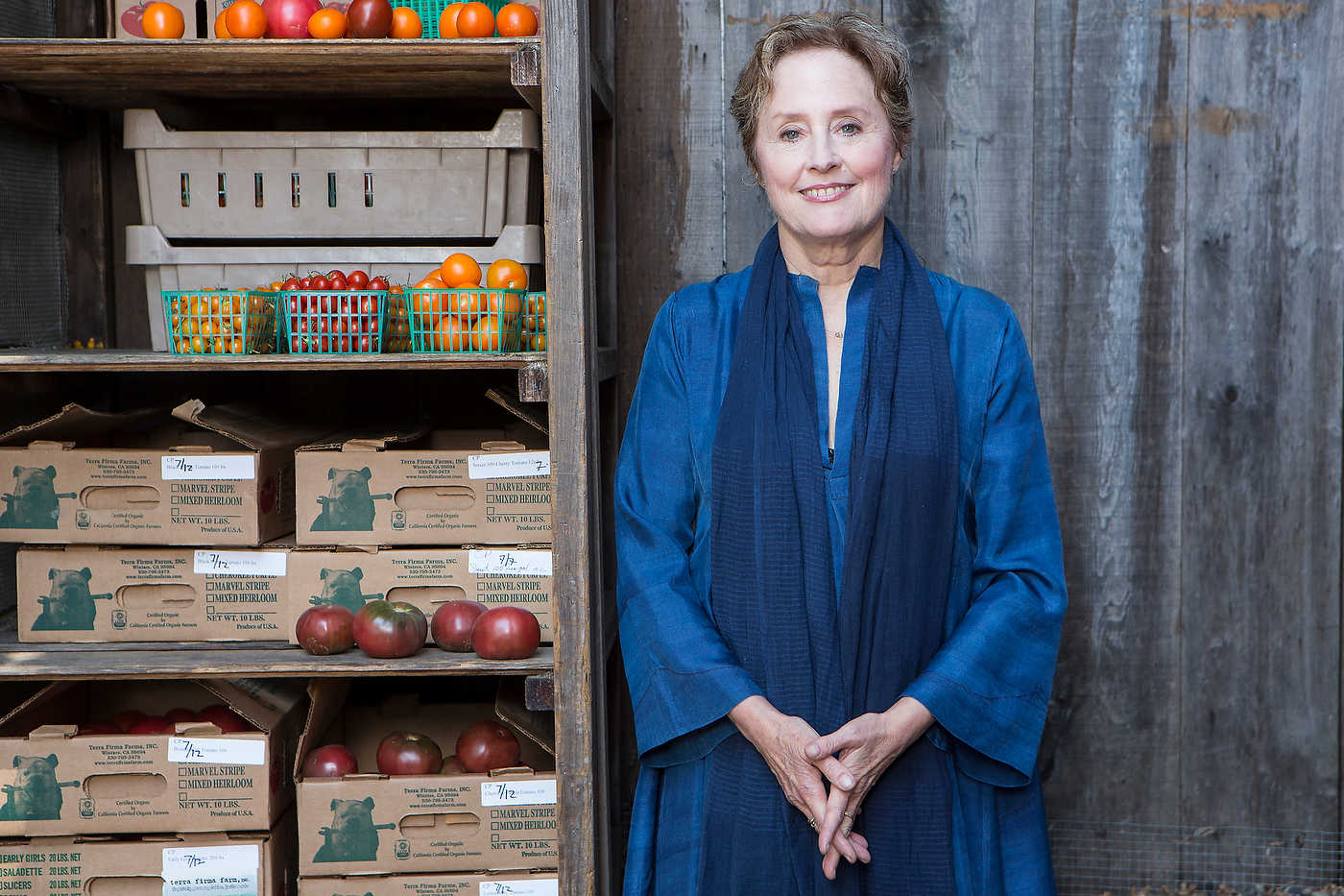 Alice Waters, food activist.