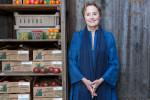 Alice Waters, food activist, at Chez Panisse, for Figaro Madame.