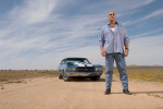Bill Goldberg, in the Mojave desert, for A&E Television.