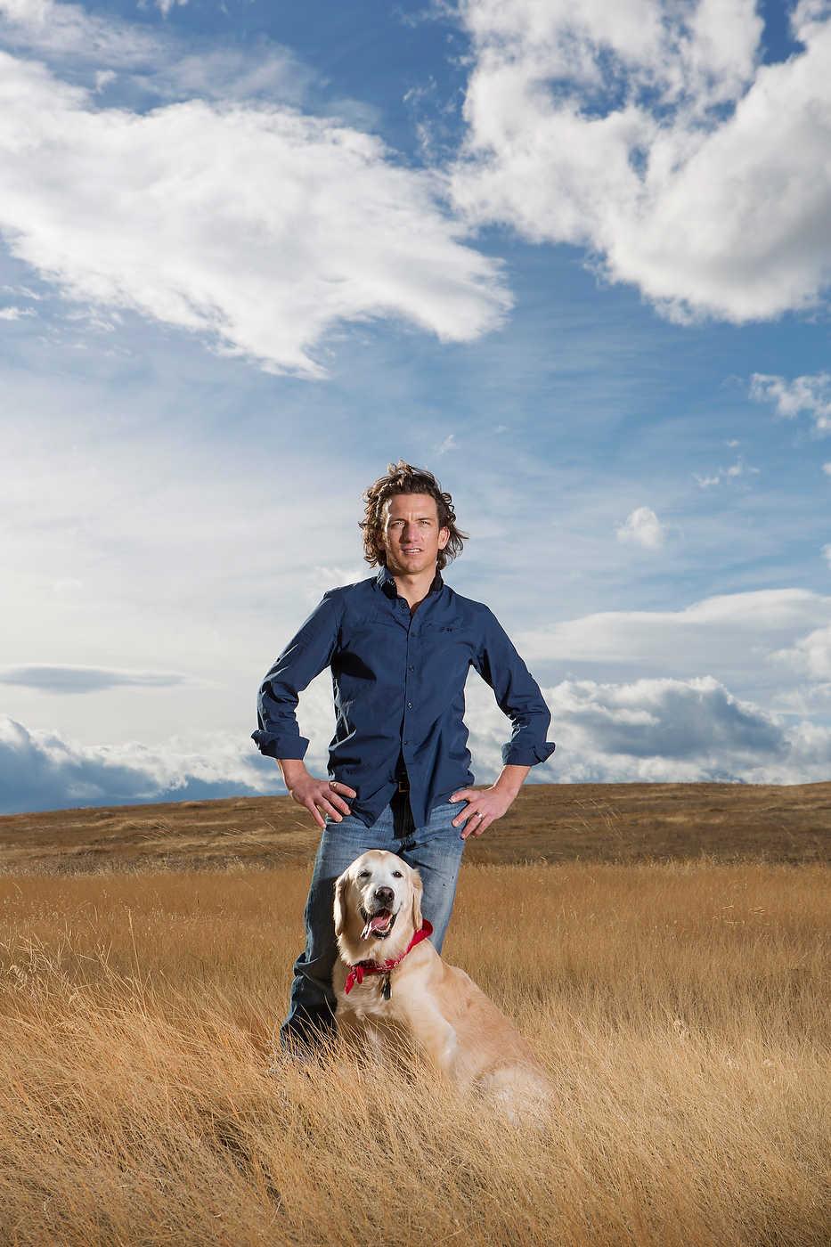 Tyler Hamilton, cyclist and author, Montana, for l'Equipe Magazine.