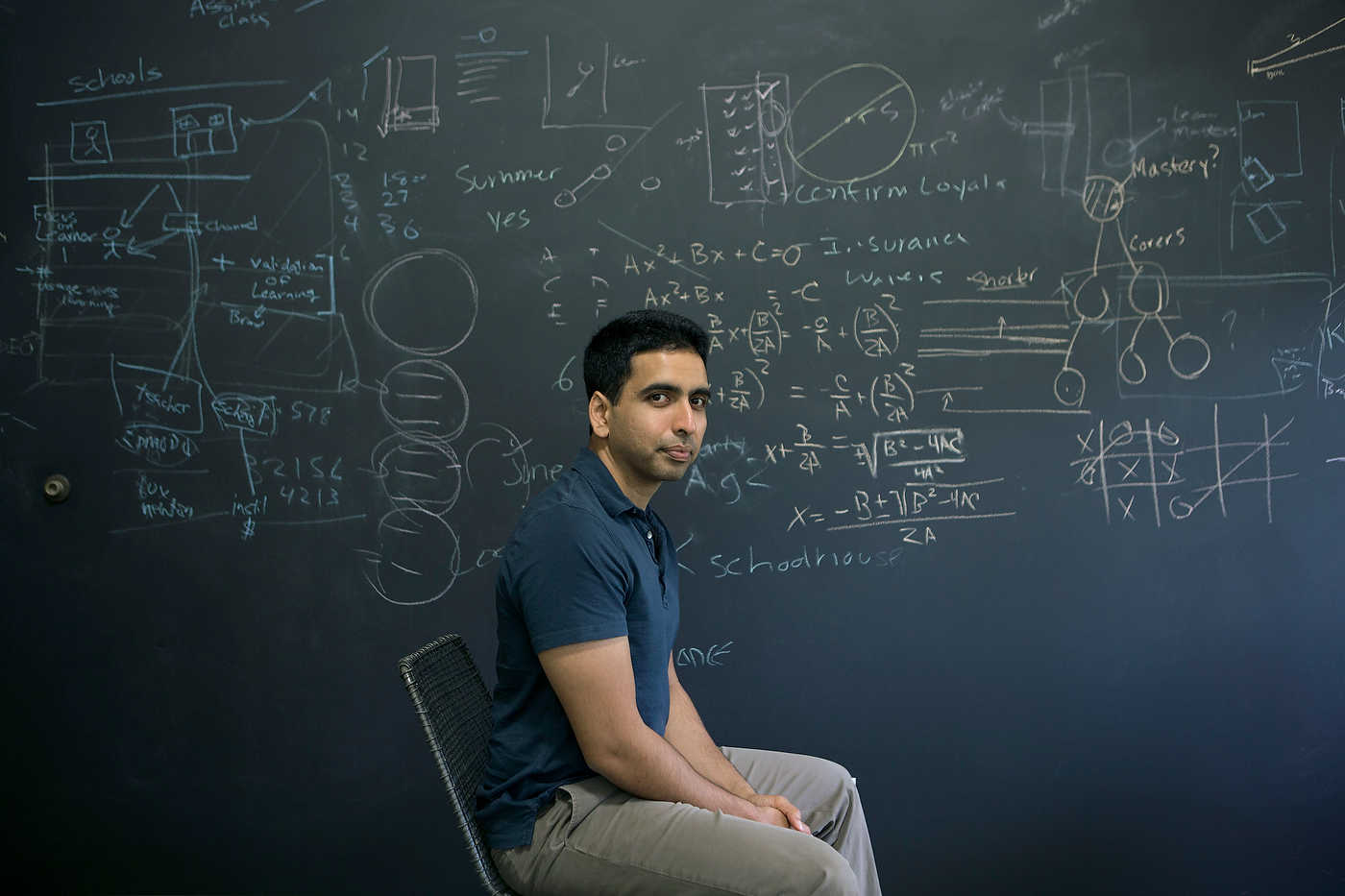 Salman Khan, founder of the Khan Academy, in San Jose, for Le Nouvel Observateur.