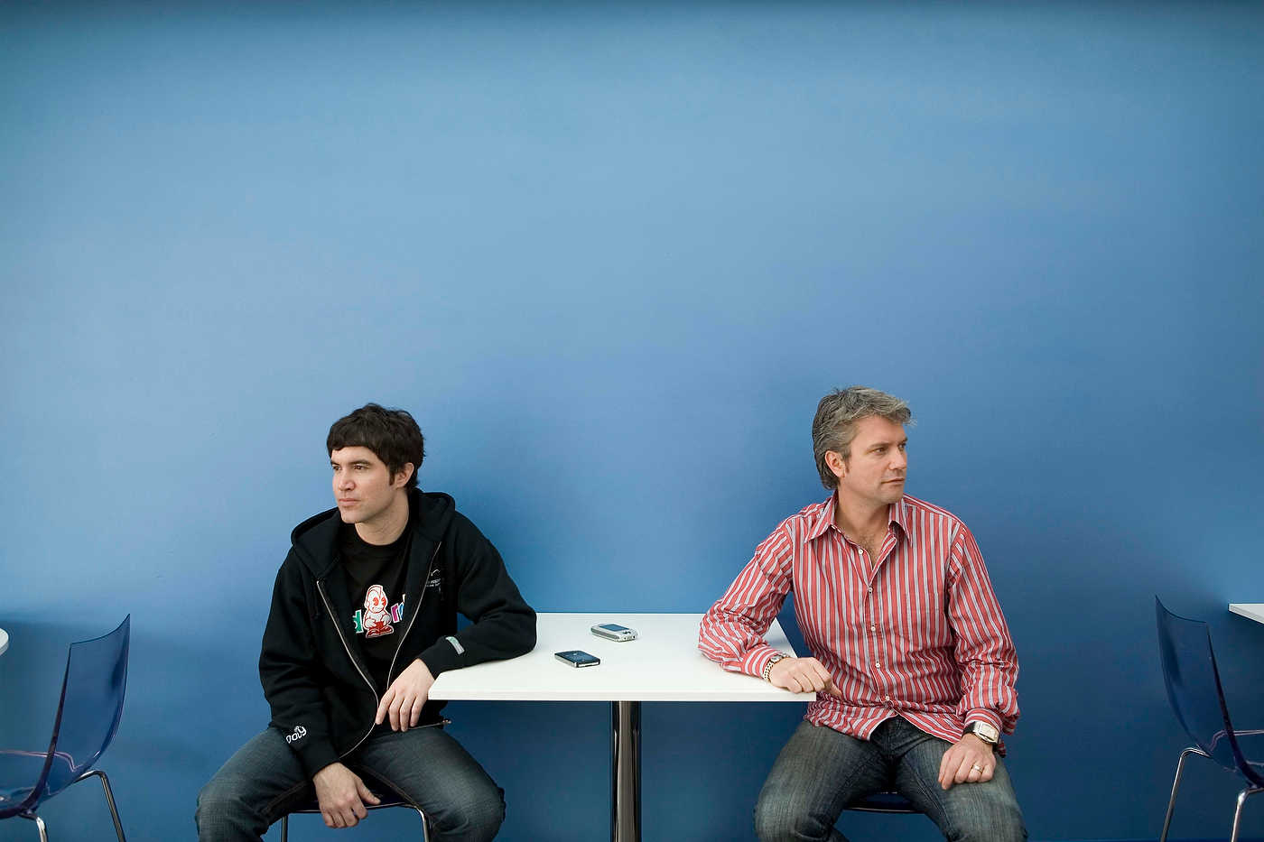 MySpace co-founders Tom Anderson and Chris DeWolfe, Los Angeles, for McLeans.