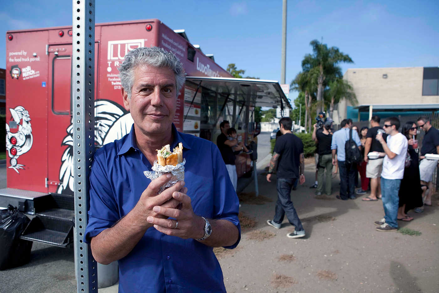 Anthony Bourdain, Los Angeles, for The Travel Channel.