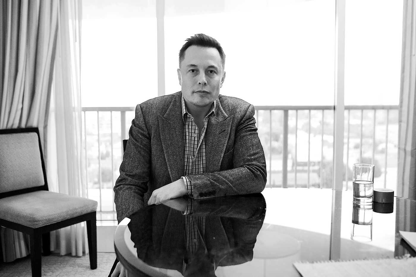 Elon Musk, entrepreneur, Los Angeles, for Focus Magazine.