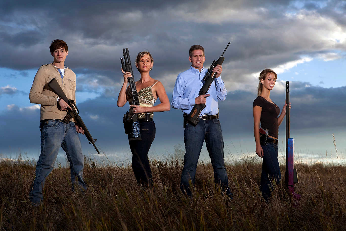 The Wyatt family, American Guns, Colorado, for Discovery Channel.