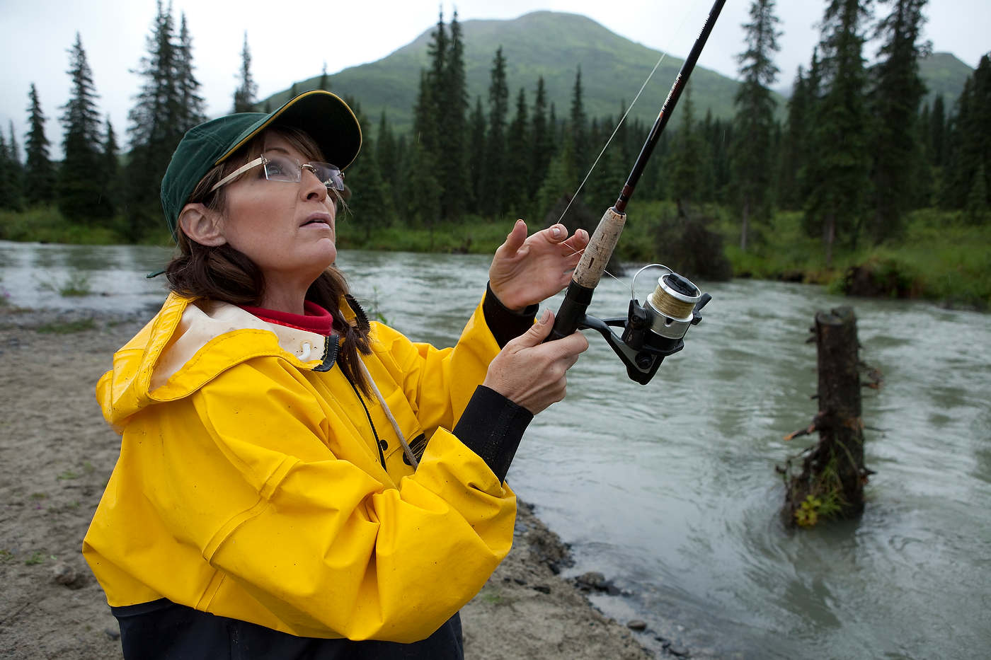 Sarah Palin fishing.
