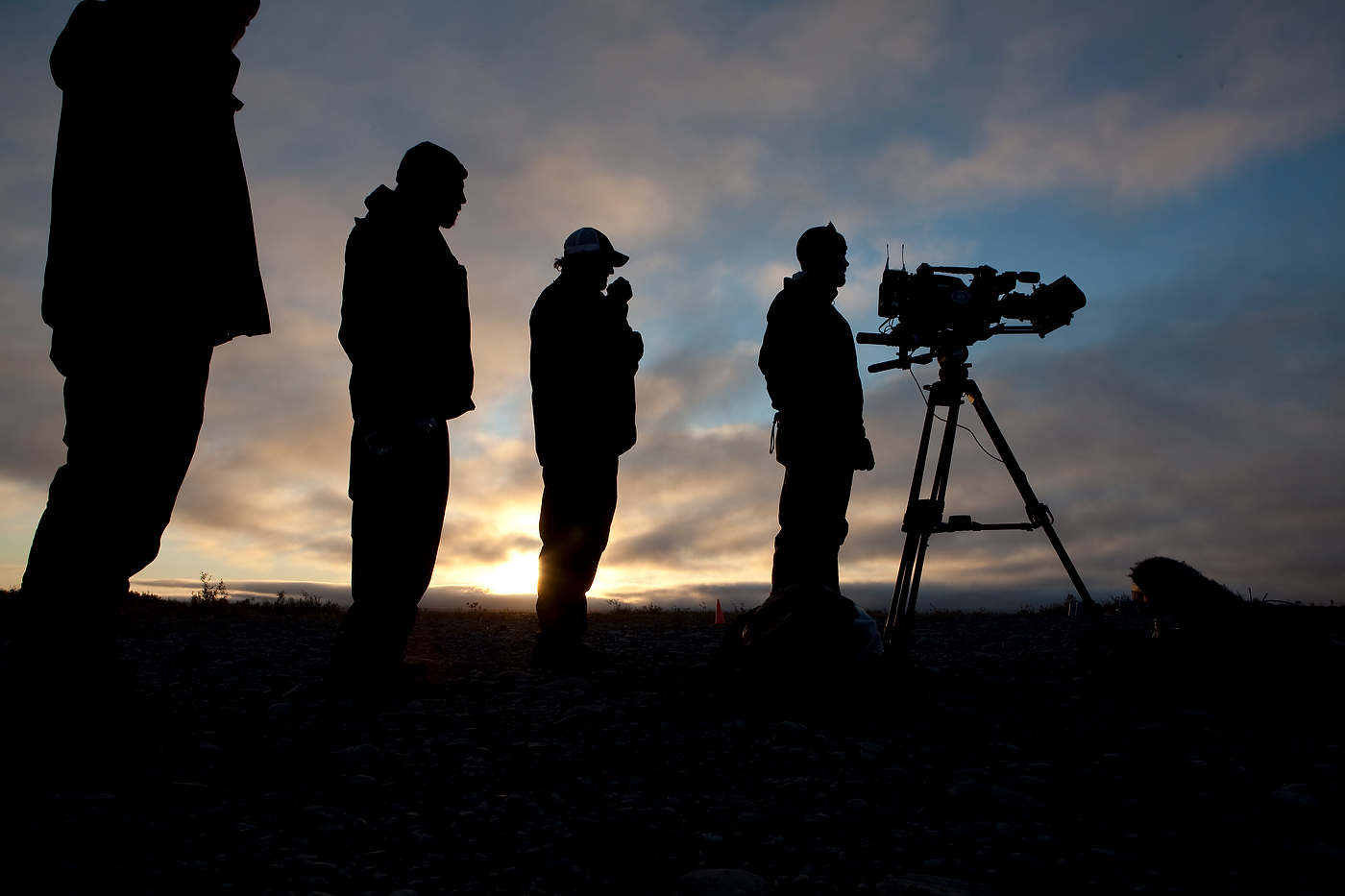 Film crew near Kavik, north of the Arctic Circle.