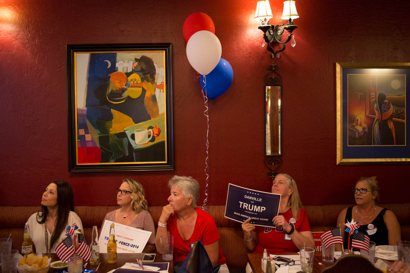 Trump supporters watch the first debate | Danville, California.