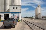 Grain silos and train tracks | Garrison, Kansas.
