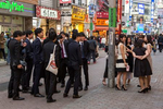SHIBUYA TOKYO, JAPAN -MARCH 19 2017:  Youth on Center Gai, a bustling pedestrian shopping street popular with young crowds in Shibuya, a neighborhood known for shopping and entertainement (photo Gilles Mingasson).