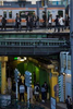 TOKYO, JAPAN -APRIL 2017: Commuters at the Lidabashi station, a major interchange railway station which straddles Tokyo's Chiyoda, Shinjuku and Bunkyō wards (photo Gilles Mingasson).