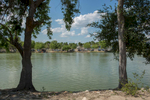 From Anzalduas Park, in the U.S., one can hear music and laughter from the Mexicam familes swimming in the Rio Grande.