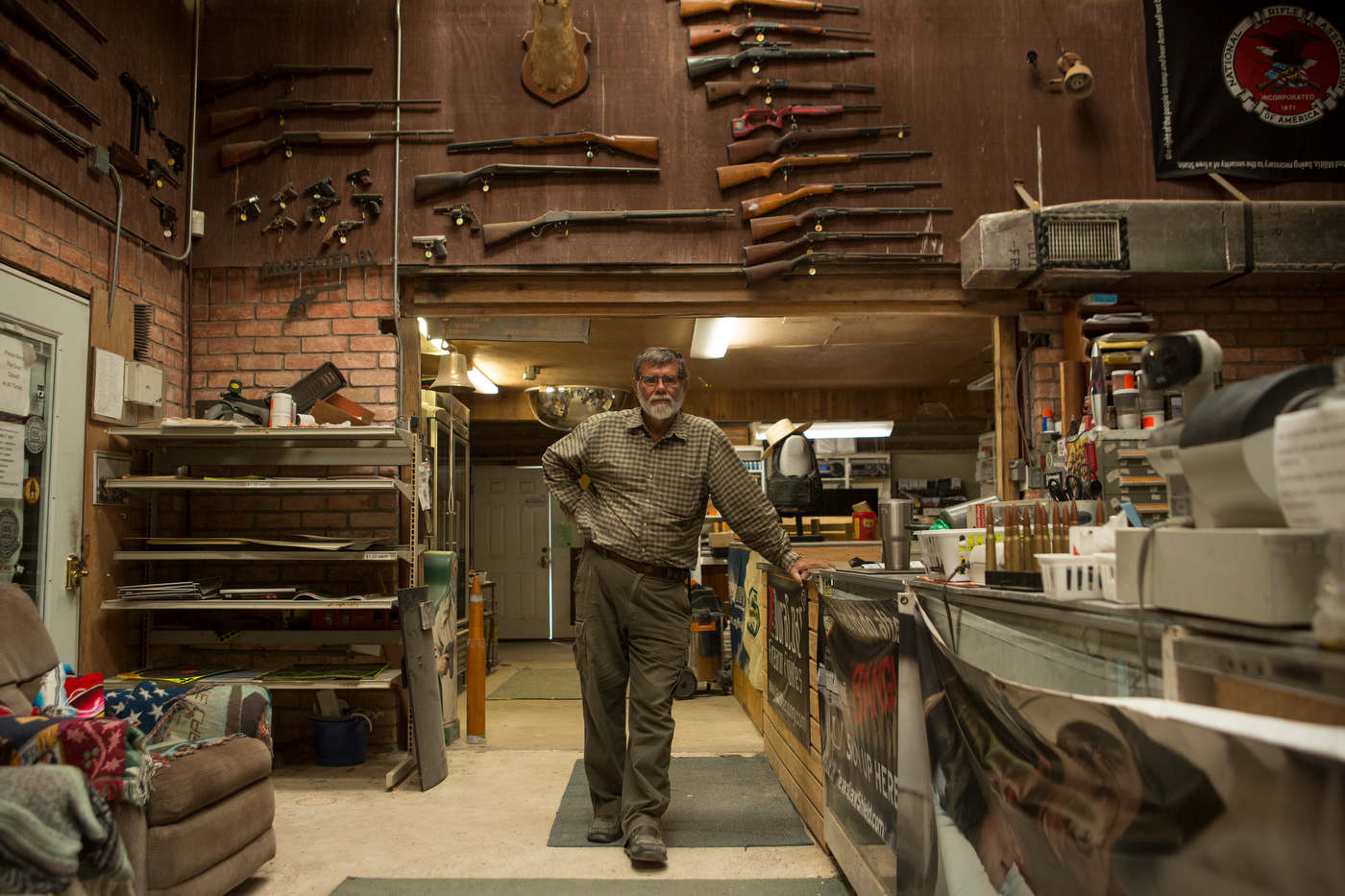 Larry Massey, owner of the Massey Gun Range, located near the Rio Grande.
