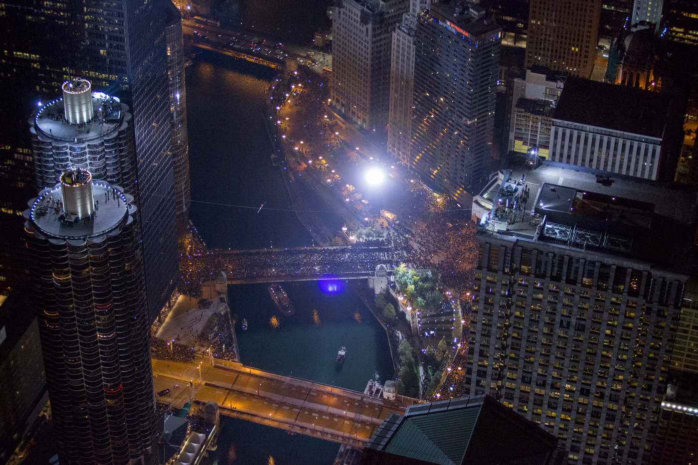Nick Wallenda, Chicago, for Discovery Channel.