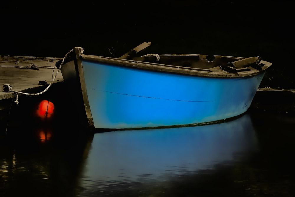 Blue-Boat-on-Pond-_5