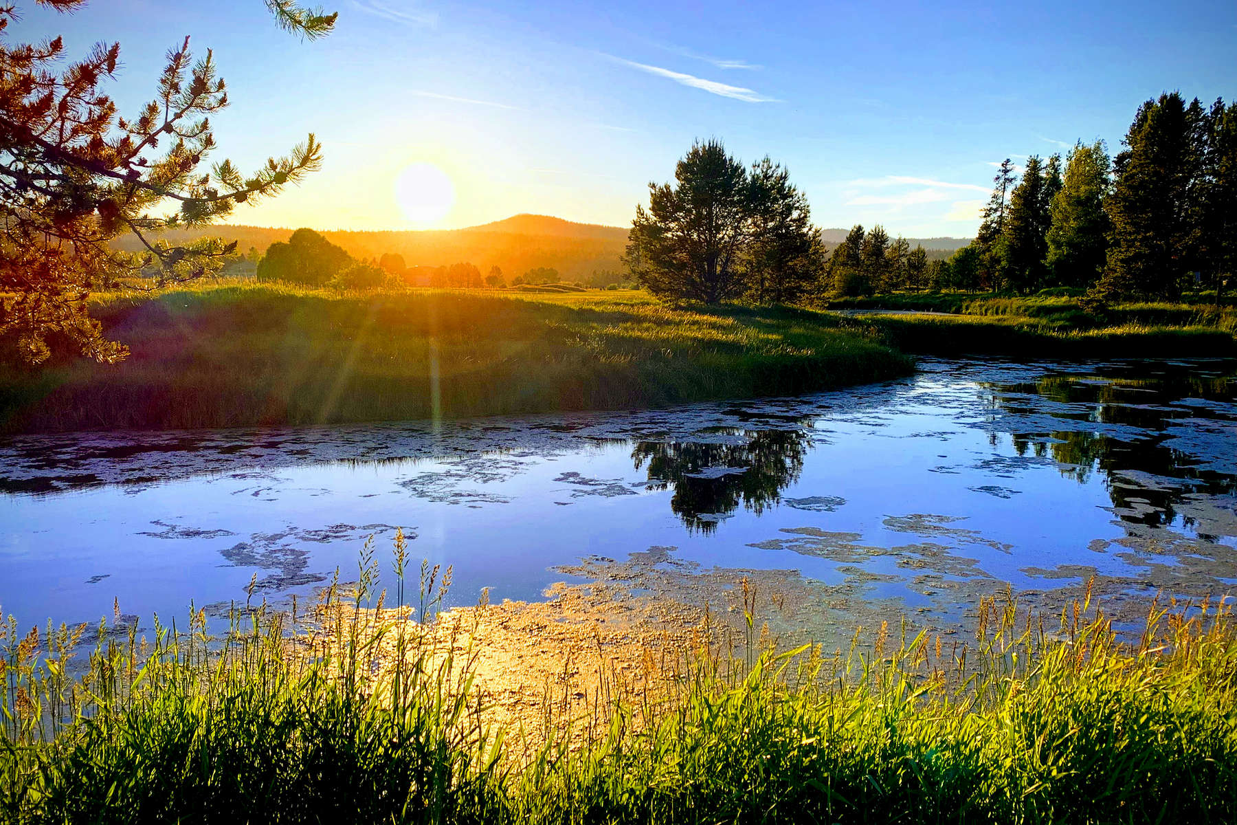 Sunset-over-Golf-Course-Pond-4x6-2