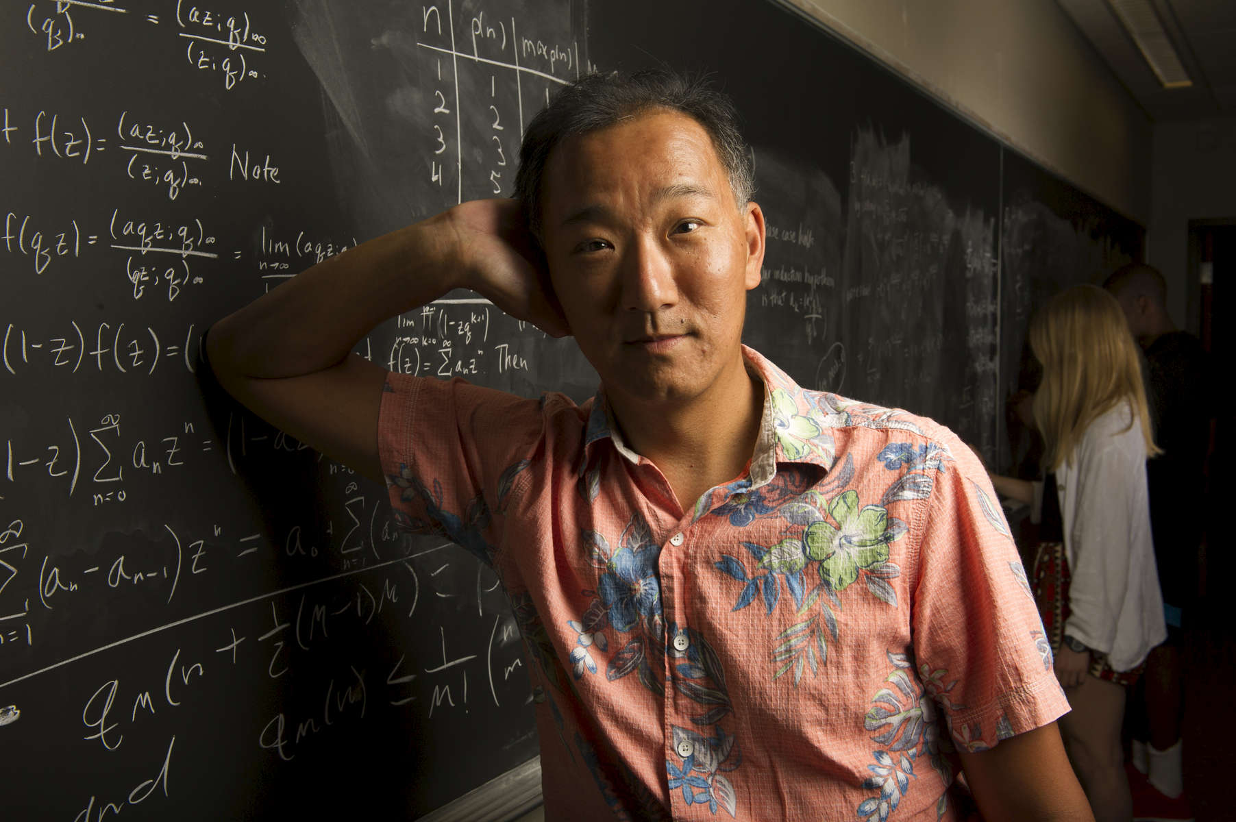 Ken Ono, Mathematics Professor at Emory University, is the author of {quote}My Search for Ramanujan,{quote} is a Japanese-American mathematician who specializes in number theory, especially in integer partitions, modular forms, and the fields of interest to Srinivasa Ramanujan.