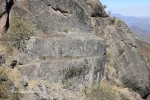 The Sacrificial Alter is on a steep slope on the side of the Plateau. It can be very dangerous to climb down to in the wet season. Markawasi / Marcahuasi, Peru.