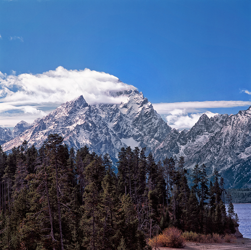 Grand Teton and Middle Teton Mountains,Wyoming, USAImage no: 060634.18Click on link to ad to cart