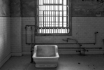 Black and White Prison Images from Alcatraz, CaliforniaImage No: 16-003806-bw  Click HERE to Add to Cart