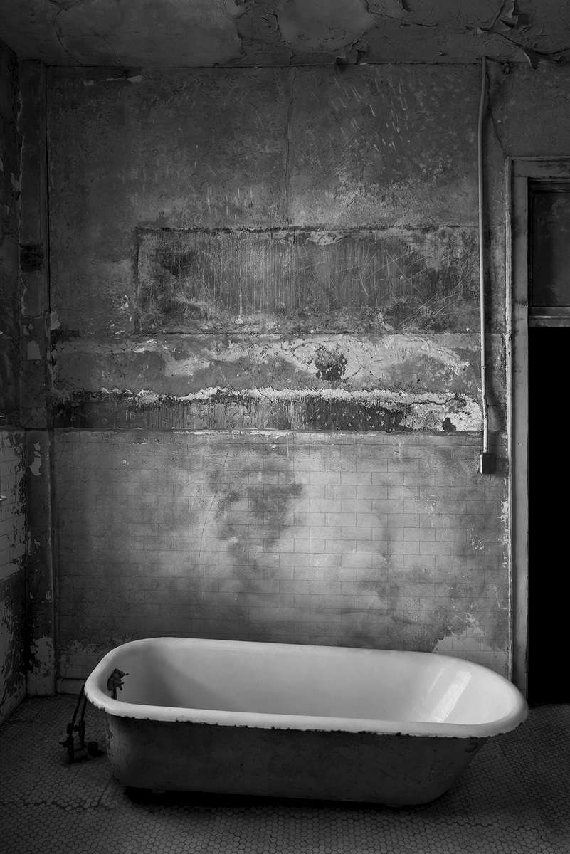 Alcatraz Prison, CaliforniaImage No: 16-003810 -bw Click HERE to Add to Cart