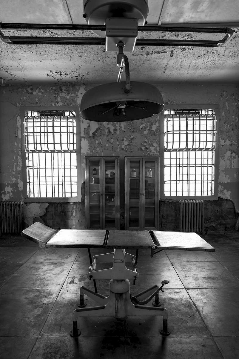 Alcatraz Prison, California, USAImage No: 16-003857-bw  Click HERE to Add to Cart
