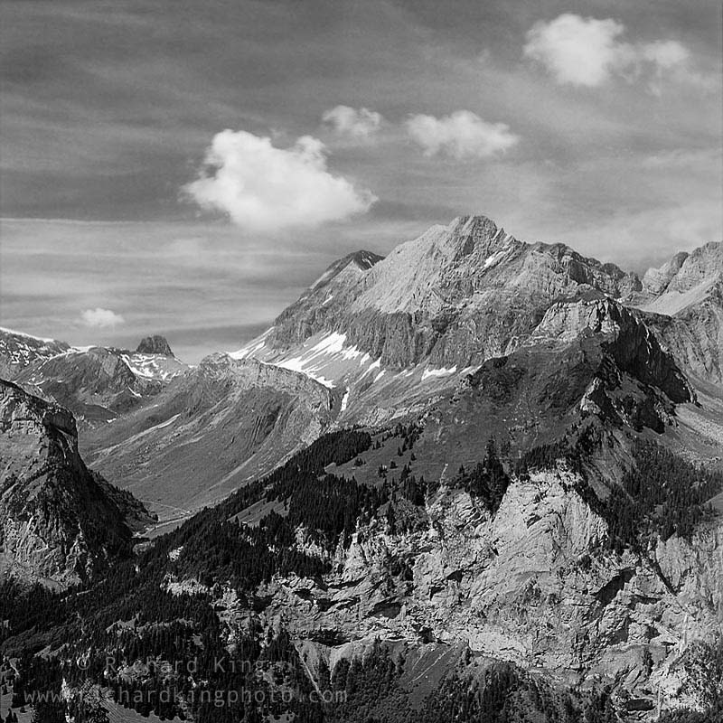 Berner Oberland, Kandersteg, Switzerland.Image No: 050261.04-bwClick HERE to Add to Cart