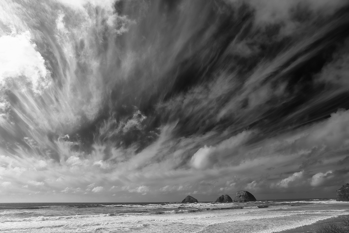 Seascape photographs from the Oregon coast Oceanside, OregonImage no: 16-006876-bw   Click HERE to Add to Cart