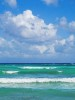 Cumulus clouds and breaking waves,Caribbean Sea, Yucatan Peninsula, MexicoImage no: 080086.04Click on link to add to cart  http://bit.ly/cVCcr5