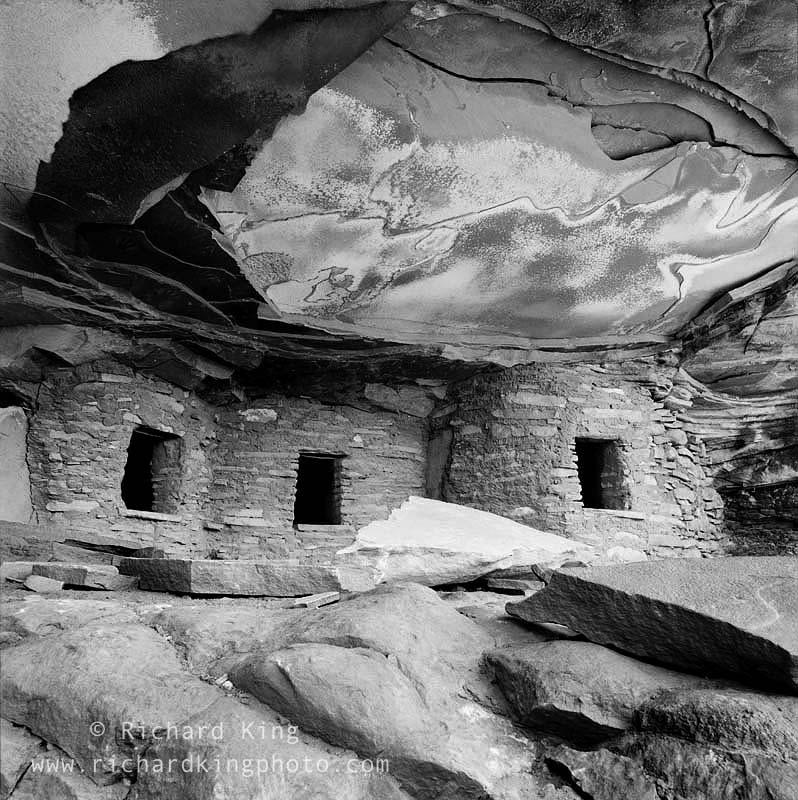 Anasazi Ruin, Ancient Pueblo DwellingColorado Plateau, Utah, USA, fine art print, giclee, pigment-on-paper, http://www.photoshelter.com/c/richardkingphoto/image/I00004lAp226Tju4