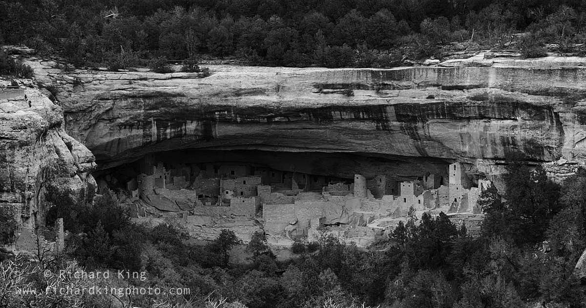 Anasazi Ruin, Mesa Verde National Park, Cliff Dwellings, ancient pueblo dwelling, black and white, giclee, fine art print, pigment-on-paper, Photograph, http://www.photoshelter.com/c/richardkingphoto/img-show/I0000YHEC_Ep8TeA