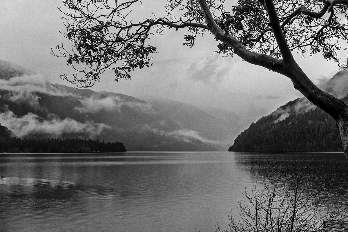 Winter Landscape photographs of Crescent LakeImage No: 17-003357-bw   Click HERE to Add to Cart