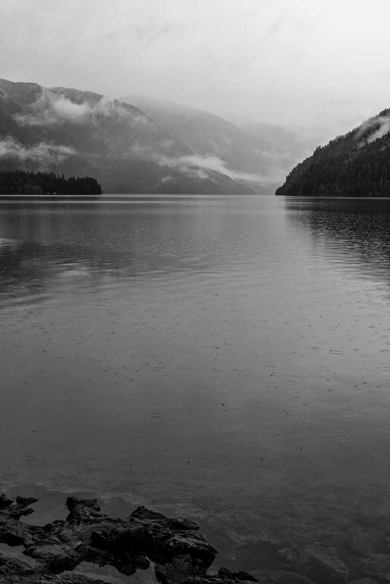 Winter Landscape photographs of Crescent LakeImage No: 17-003358-bw    Click HERE to Add to Cart