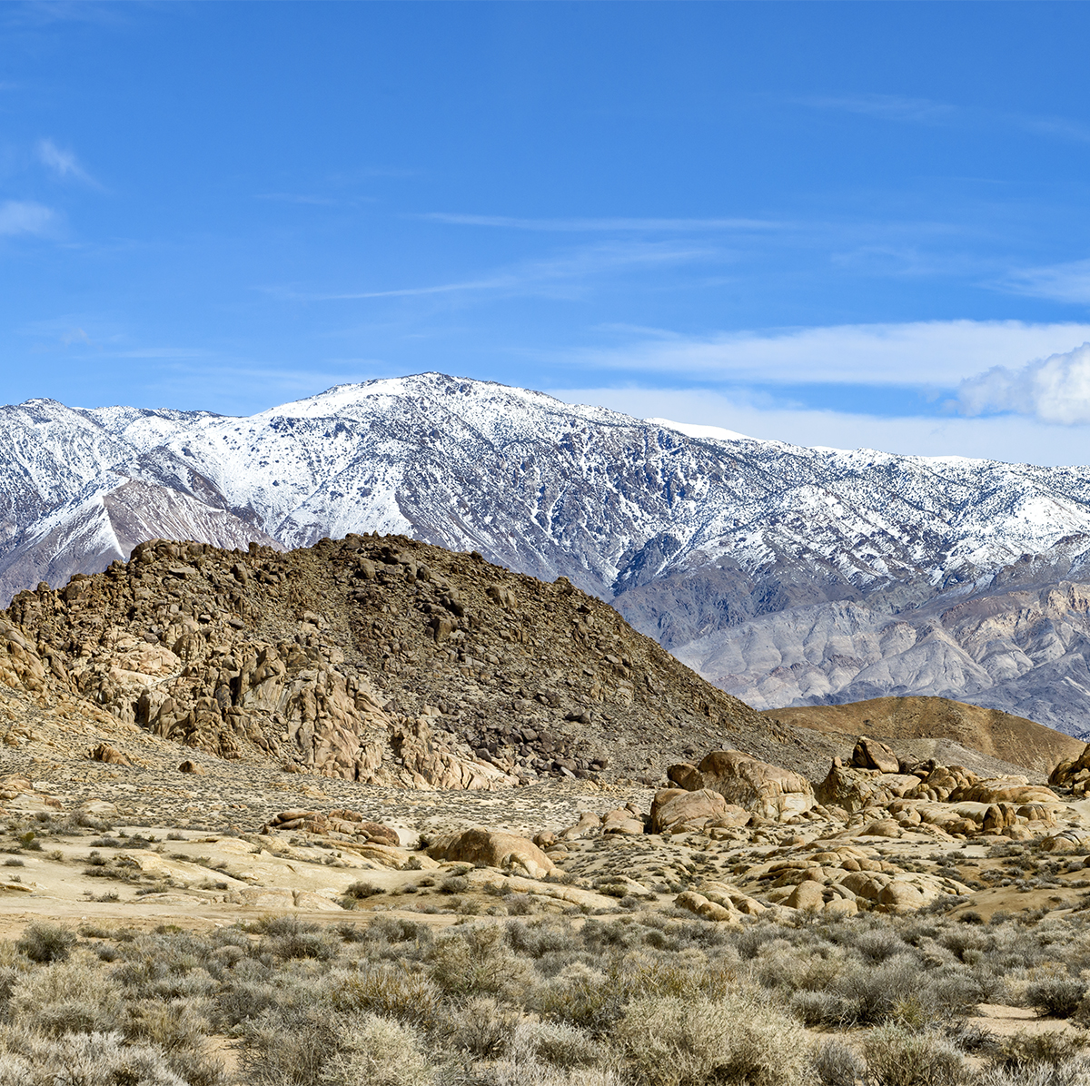 Detail from Winter Landscape Panorama Alabama Hills & Inyo MountainsImage No: 17-001892905