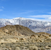 Detail from Winter Landscape Panorama Alabama Hills & Inyo MountainsImage No: 17-001892905  Click HERE to Add to Cart