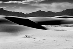 Black and White Image of the Dunes at White Sands, NM New MexicoImage no: 17-020898-bw   Click HERE to Add to Cart