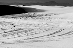 Black and White Image of the Dunes at White Sands, NM New MexicoImage no: 17-020914-bw   Click HERE to Add to Cart