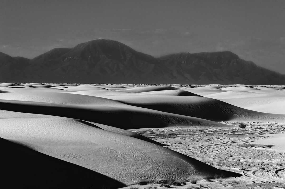 Black and White Image of the Dunes at White Sands, NM New MexicoImage no: 17-020971-bw   Click HERE to Add to Cart