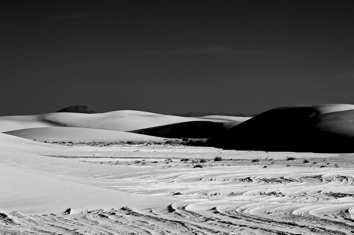 Black and White Image of the Dunes at White Sands, NM New MexicoImage no: 17-020981-bw   Click HERE to Add to Cart