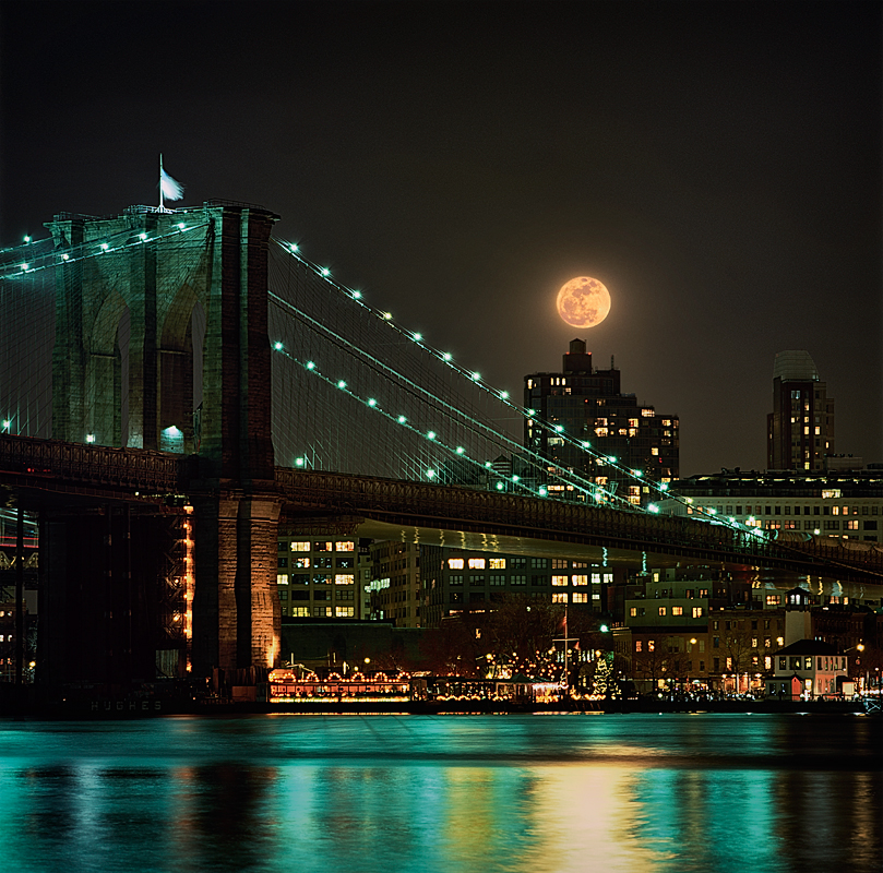 The Nearest Full Moon for over 60 Years Rises OVer The East RiverImage No: 11-00124 Click HERE to Add To Cart
