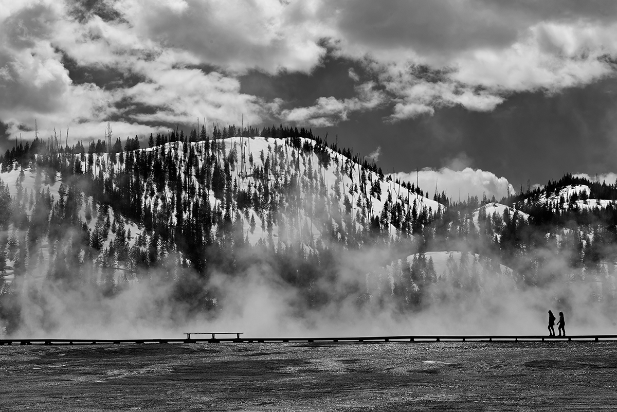 Midway Geyser Basin, Wyoming, USAImage No: 17-005878-bw   Click HERE to Add to Cart