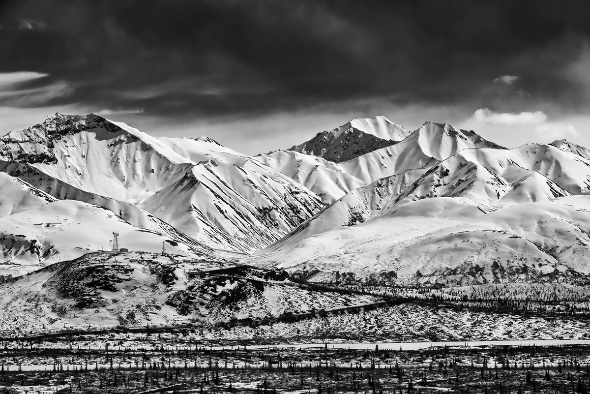 Anchorage to Glennallen, AlaskaImage no: 16-012958-bw   Click HERE to Add to Cart