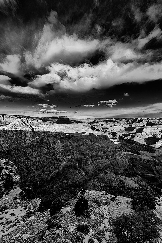 South Rim of the Grand Canyon, ArizonaImage no: 13-002300-bwClick HERE to Add to Cart