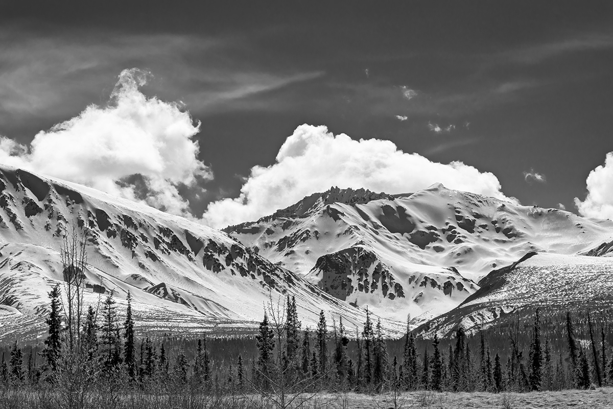 Coast MountainsBetween Haines, Alaska & Haines Junction, YukonImage no: 16-012499-bw   Click HERE to Add to Cart