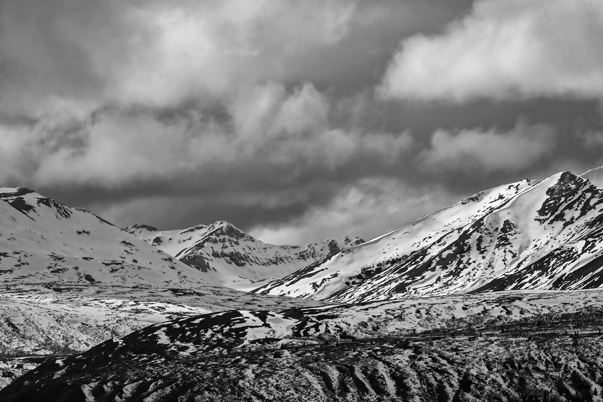 Coast MountainsBetween Haines, Alaska & Haines Junction, YukonImage no: 16-011287-bw   Click HERE to Add to Cart