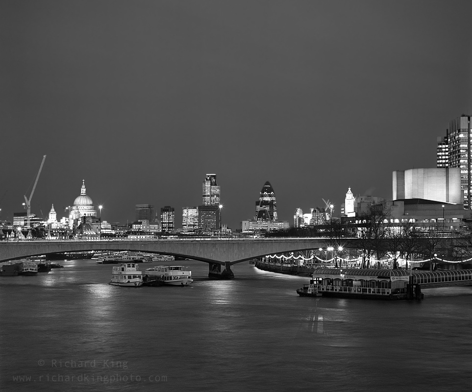 Waterloo Bridge, London, EnglandImage no: 060021-12-bw  Click HERE to add to cart
