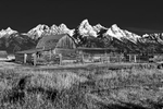 Landscapes at Mormon Row Historic District, Antelope FlatsImage no: 17-017608-bw   Click HERE to Add to Cart
