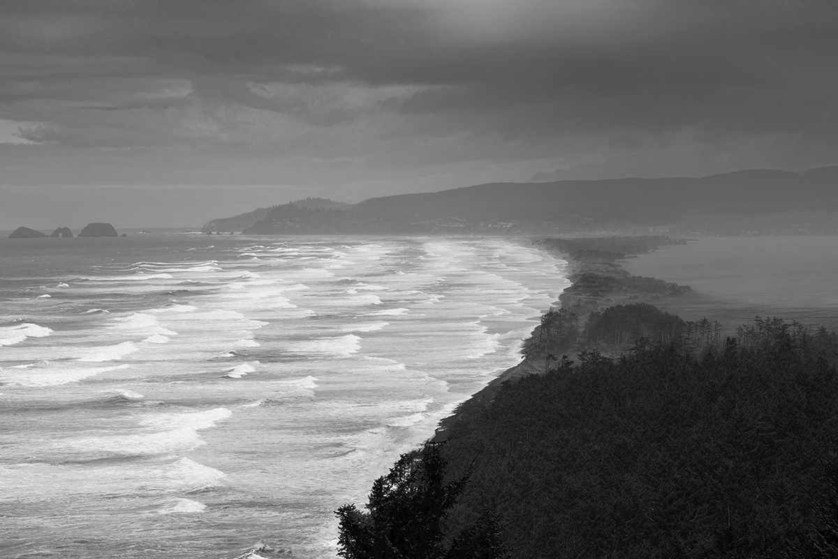 Seascape photographs from the Oregon coast Netarts, OregonImage no: 16-006834-bw   Click HERE to Add to Cart