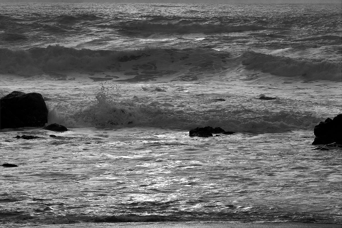 Seascape photographs Pacific OceanCrescent City, CaliforniaImage no: 16-005363-bw   Click HERE to Add to Cart